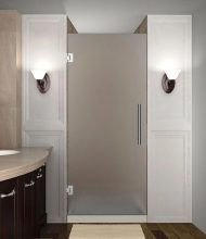 Frameless Frosted Glass Single Door