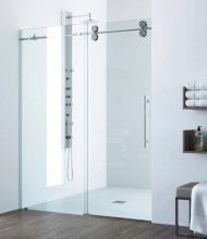 Frameless Shower Systems Virginia Series 4 Wheels